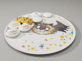 Plate of cookies 3d model