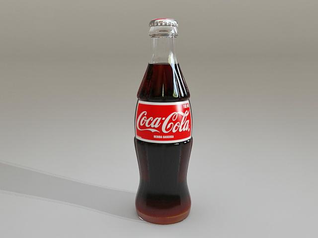 Coca Cola glass bottel 3d model
