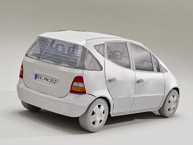 W168 a class mercedes 3d model 3d studio files free for Mercedes benz hatchback models