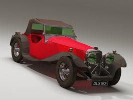1939 Jaguar SS100 3d model