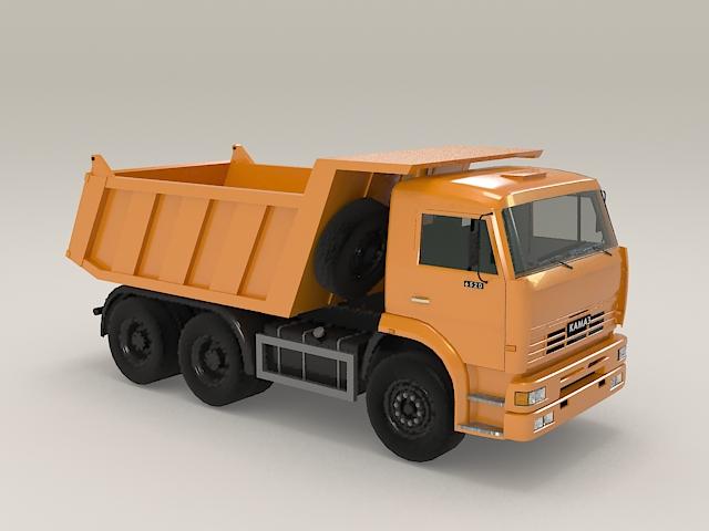 Construction dump truck 3d model