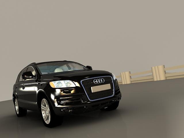 Audi Q7 Black 3d model