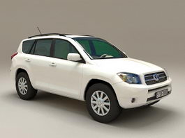 Toyota RAV4 White 3d model