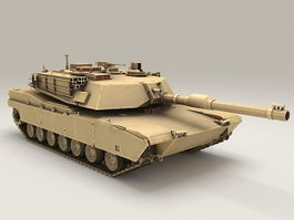 Abrams Battle Tank 3d model