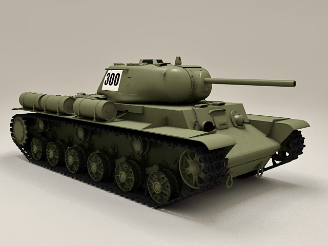 Russian KV-1S Tank 3d model
