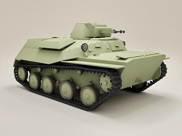 Soviet Light Tank T40 3d model