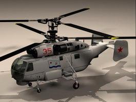 KA27 Helix Helicopter 3d model