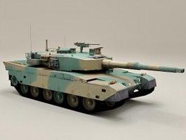 Japan Type 90 Tank 3d model