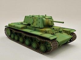 WW2 KV-1B Tank 3d model