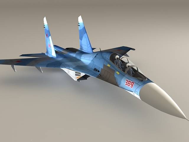 Russian Su-30 Fighter Jet 3d model