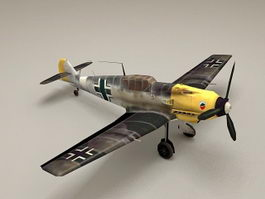 WW2 German Bf 109 Fighter Plane 3d model