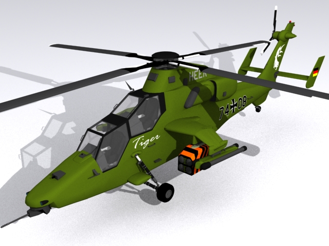 Eurocopter Tiger Attack Helicopter 3d model