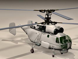 Ka-27 Anti-submarine helicopter 3d model