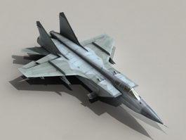 MiG-31 Foxhound 3d model