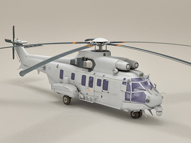 Eurocopter AS332 Super Puma 3d model