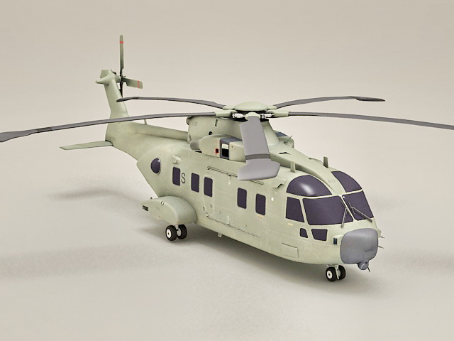 AW101 Helicopter Merlin 3d model