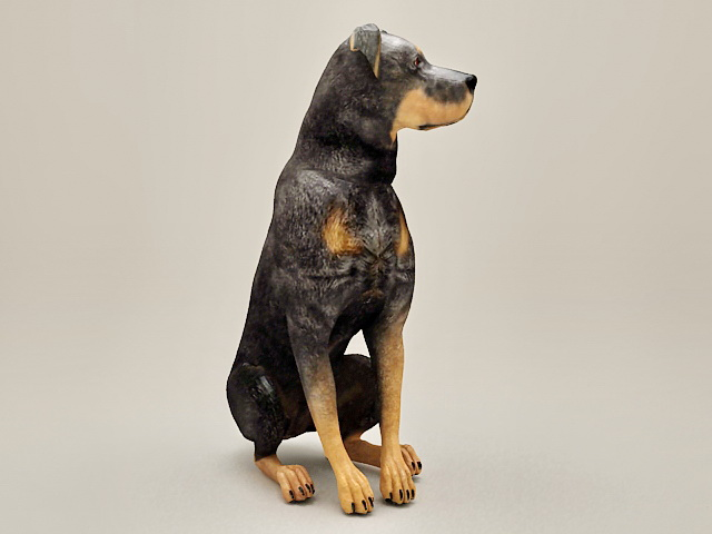 Doberman Pinscher Dog 3d Model 3ds Max Files Free Download