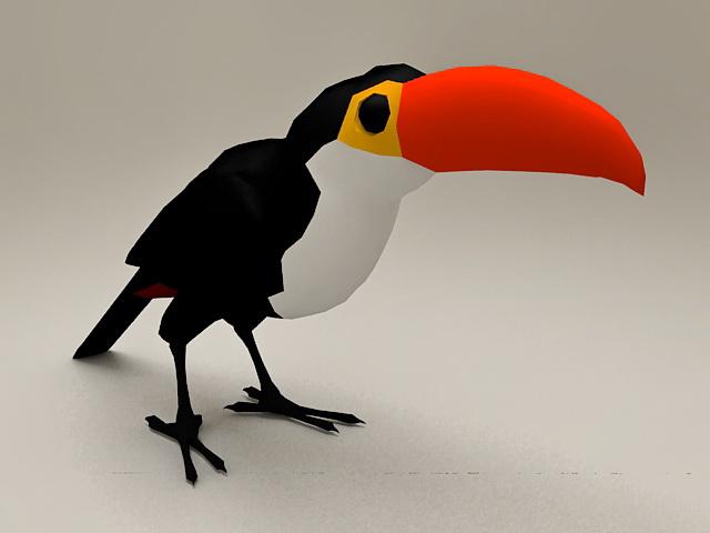 Toucan Parrot 3d model