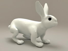 Ceramic Rabbit Decoration 3d model