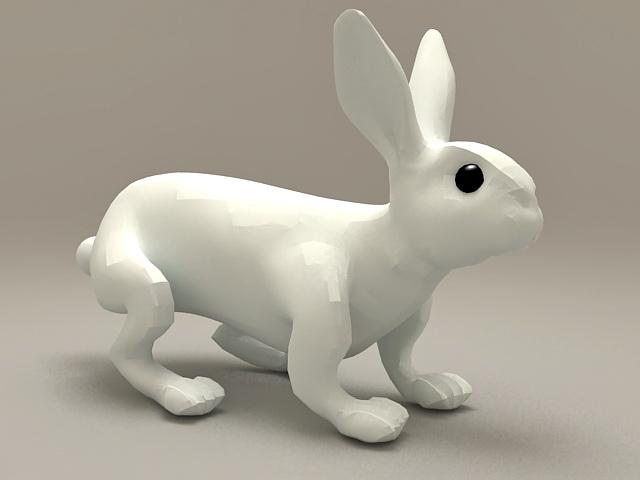 Ceramic Rabbit Decoration 3d model