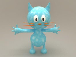 Cartoon Blue Cat 3d model
