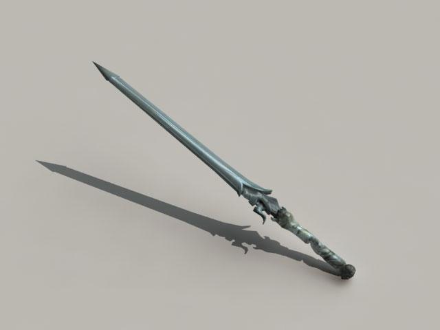 Rebellion Sword 3d model