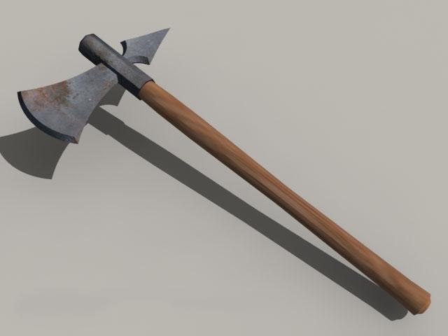 Battle Axe Medieval Weapon 3d model