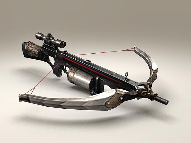 Crossbow gun 3d model