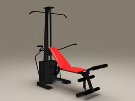Home Gym Fitness Equipment 3d model