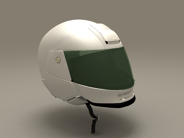 Open Face Motorcycle Helmet 3d model