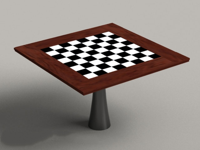 Square Chess Table 3d rendering