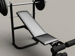 Gym Weight Bench 3d model
