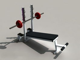 Weight Lifting Bench Equipment 3d model