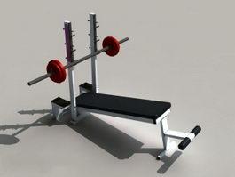 Weight Lifting Bench Equipment 3d model