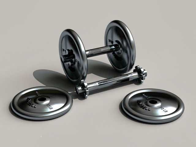 Dumbbell Weight Set 3d model