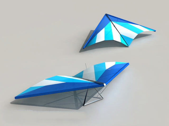 Hang Glider Low Poly 3d model