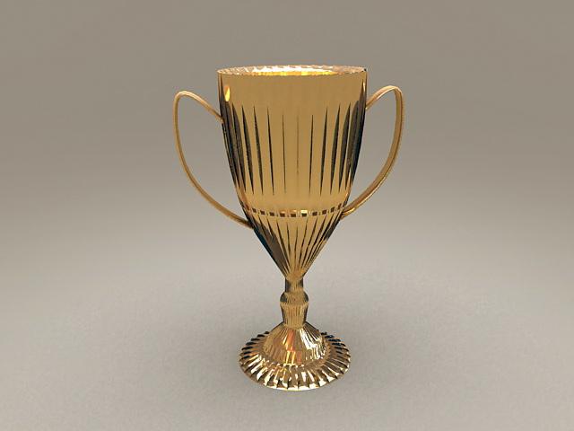 Gold Cup Trophy 3d model