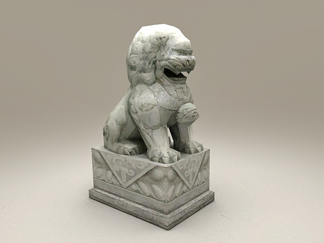 Stone Lion Statue 3d Model 3ds Max Files Free Download