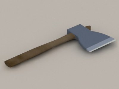 Old Hatchet Low Poly 3d model