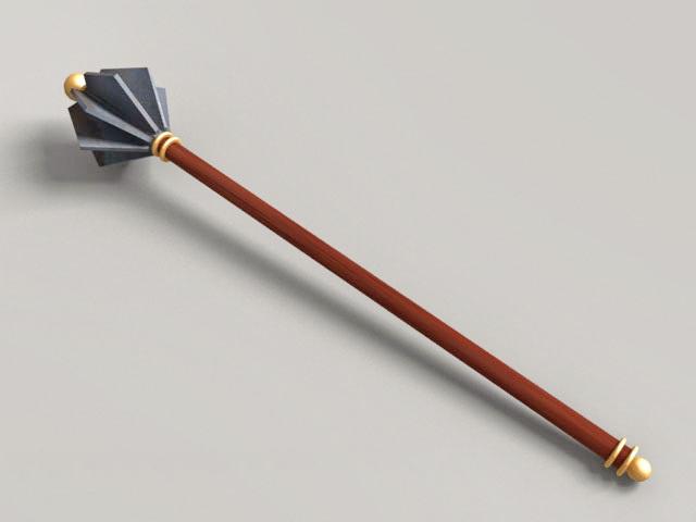 Medieval Flanged Mace 3d model