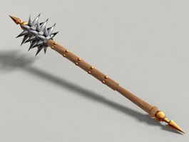 Spiked Mace Club 3d model