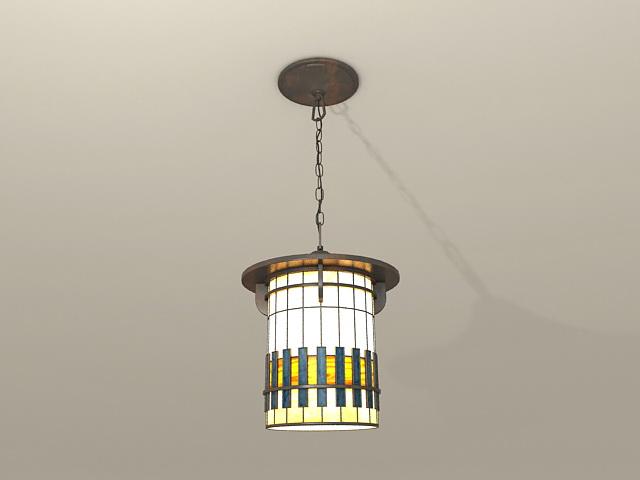 Spanish Style Pendant Light 3d model