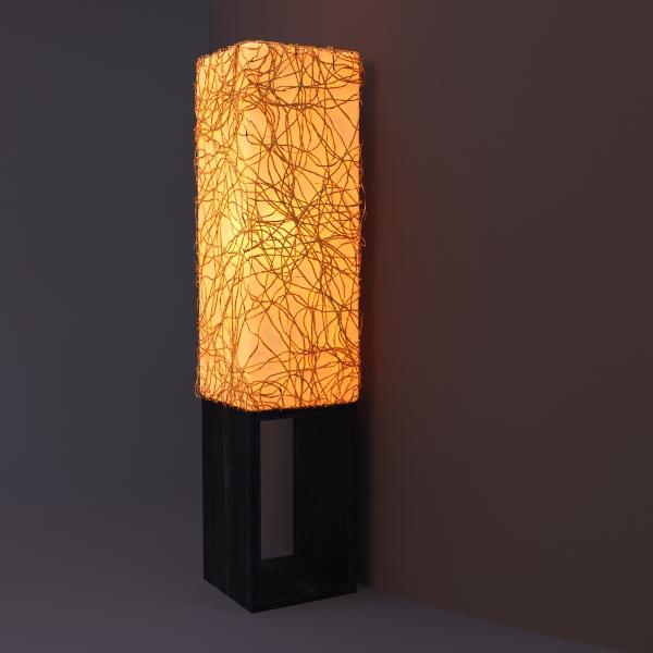 Square column floor lamp 3d model