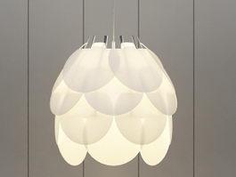 Lotus Pendant Lamp 3d model