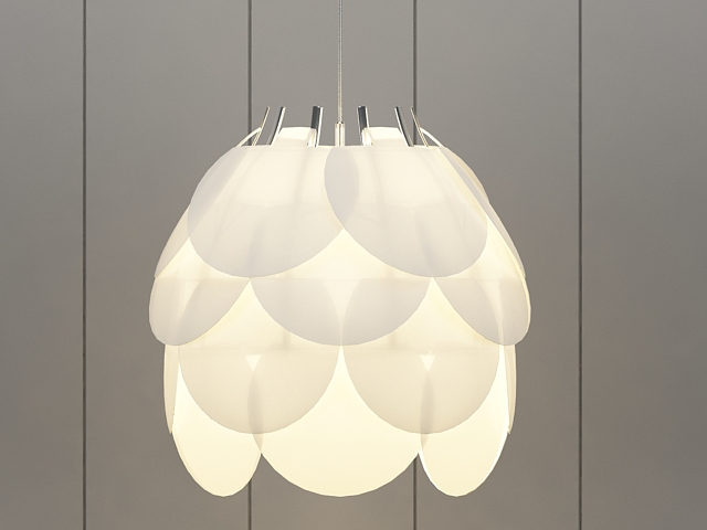 Lotus Pendant Lamp 3d model