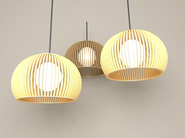 Modern Hanging Pendant Lights 3d model
