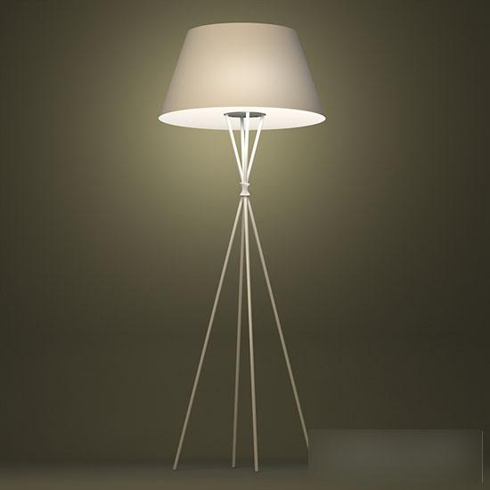 Quadrupod floor lamp 3d model