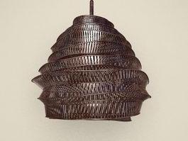 Acrylic ball pendant lamp 3d model