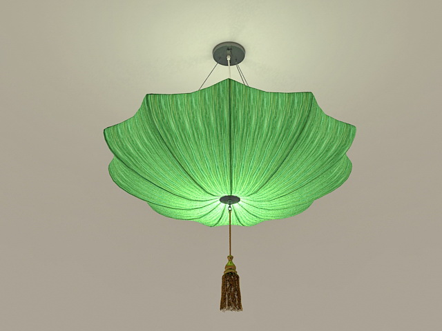 Green Umbrella Pendant Light 3d model