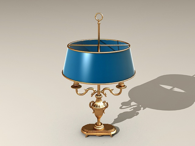 Antique Brass Table Lamp 3d model